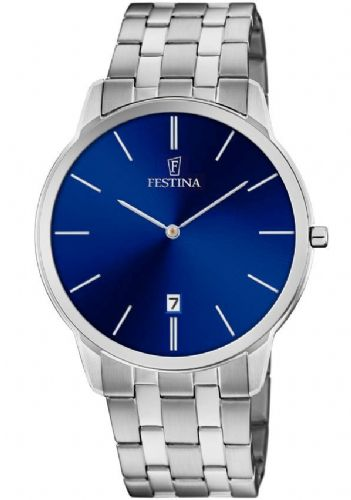 F6868/2 Festina Mens Stainless Steel Blue Round Bracelet Watch Date Feature
